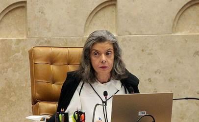 Ministra Cármen Lúcia , vice-presidente do STF, presidindo a sessão plenária (Foto: Carlos Humberto / SCO / STF )
