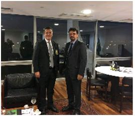 Fábio Gallo, Presidente ANER e Marcio de Freitas, secretário da SECOM.