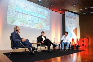 John Wilpers com Tiago Afonso – Diretor de Desenvolvimento Comercial e Digital da Editora Globo e Jonas Furtado - Editor–chefe do Meio & Mensagem