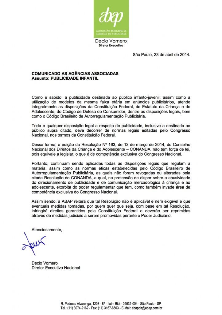CE DV - Resolução 163 - Publicidade Infantil - 23 04 2014